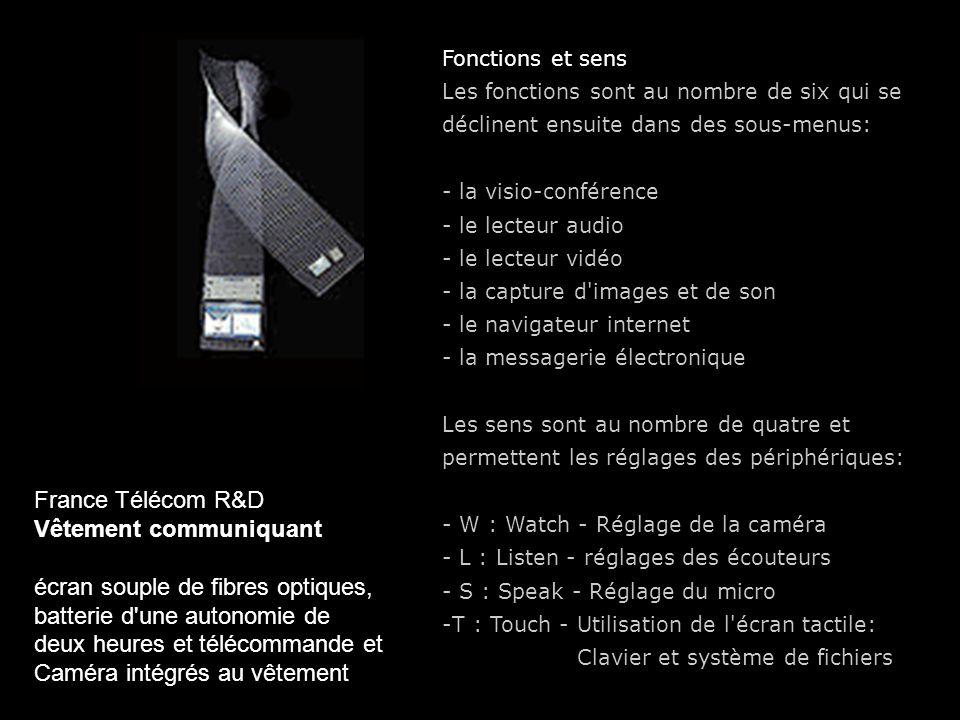 Vêtement communiquant écran souple de fibres optiques,