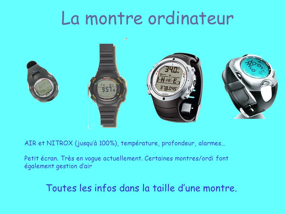 La montre ordinateur Toutes les infos dans la taille d'une montre.