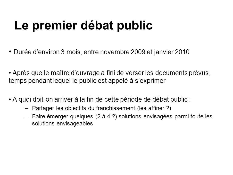 Le premier débat public