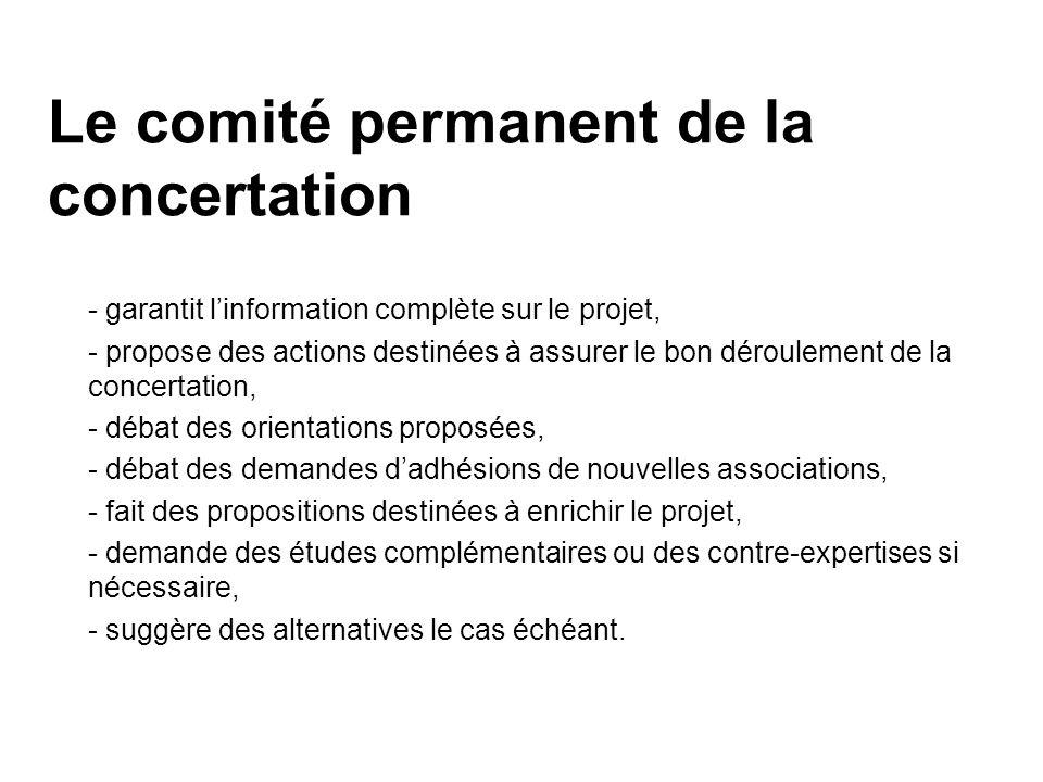 Le comité permanent de la concertation