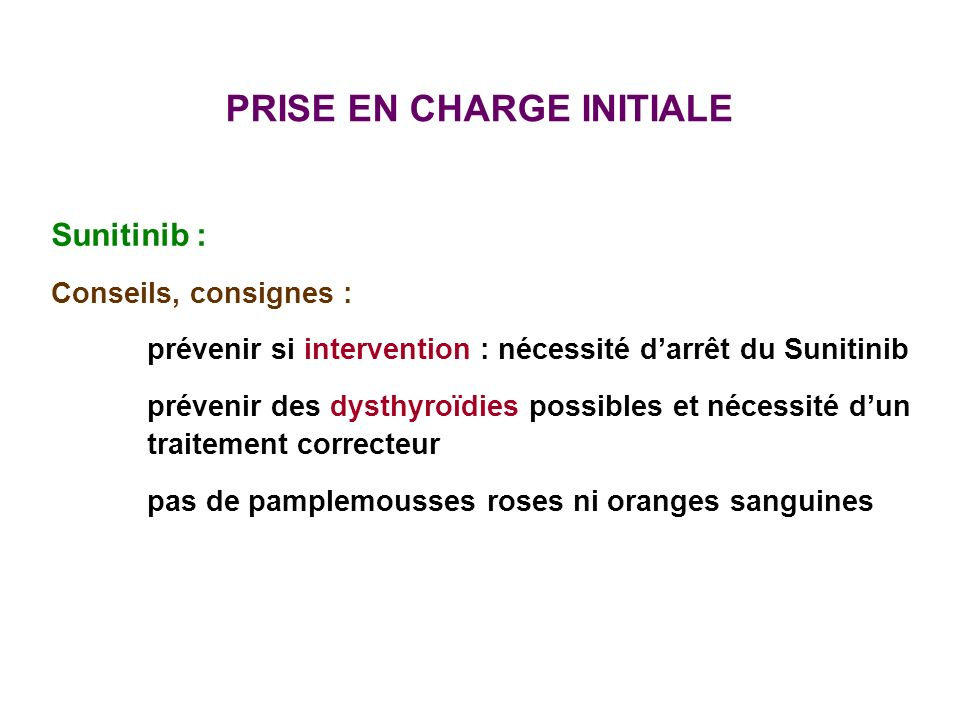 PRISE EN CHARGE INITIALE