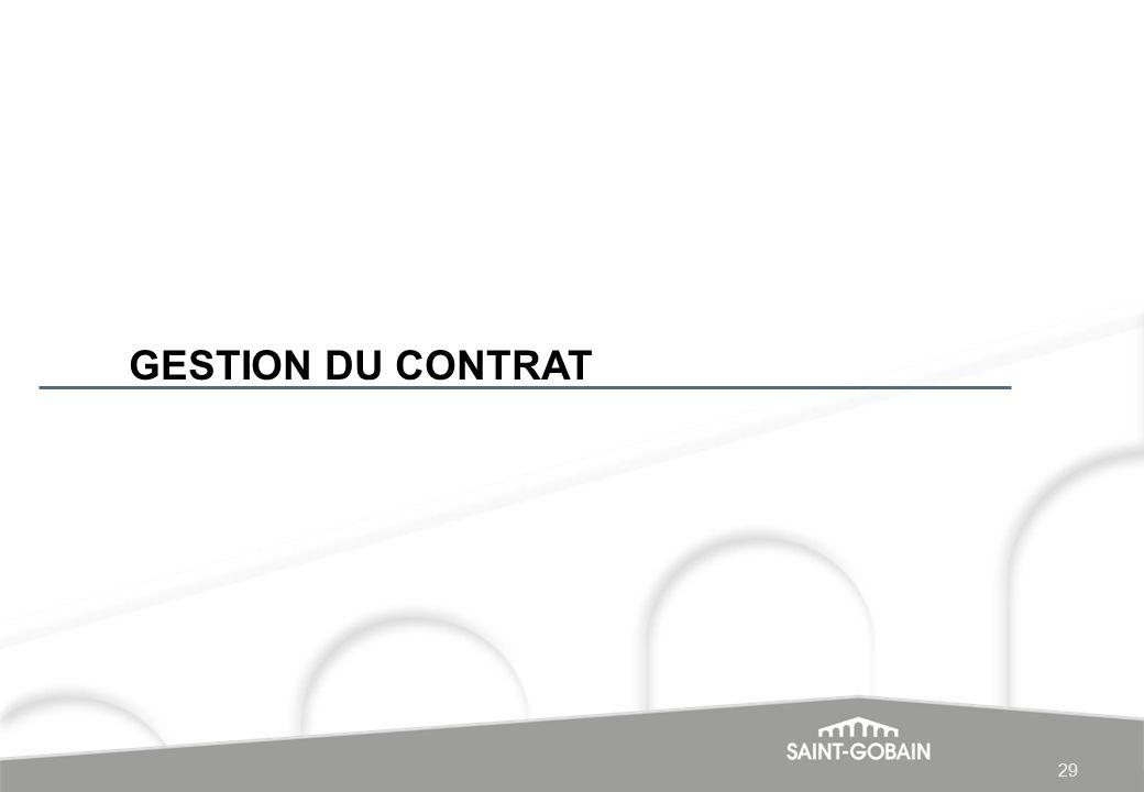 GESTION DU CONTRAT 29 29 29