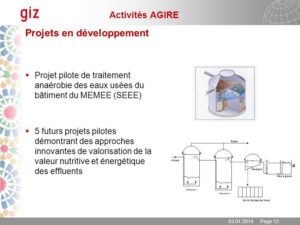 Projets en développement