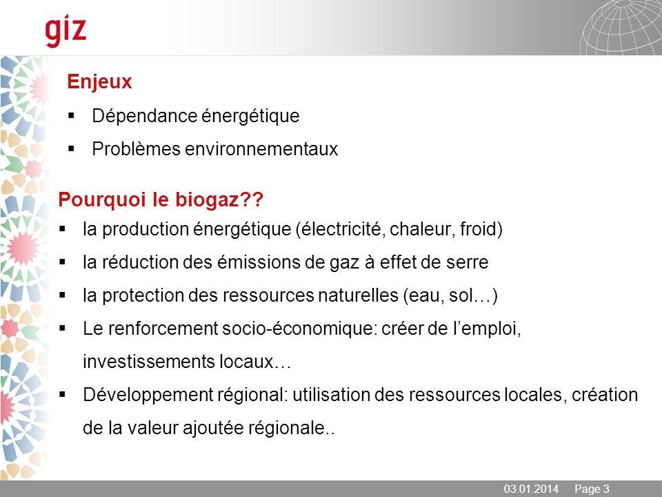 Enjeux Pourquoi le biogaz Dépendance énergétique