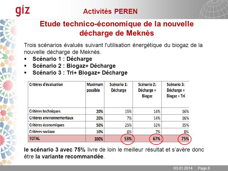 Etude technico-économique de la nouvelle décharge de Meknès