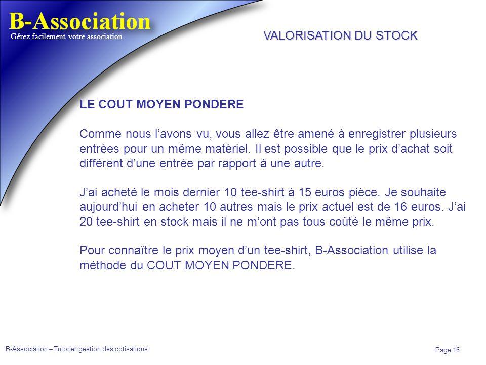 VALORISATION DU STOCK LE COUT MOYEN PONDERE.