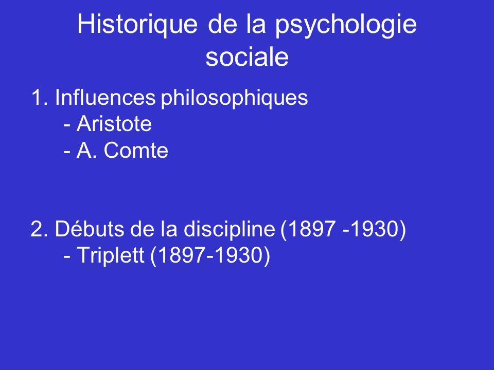 Historique de la psychologie sociale