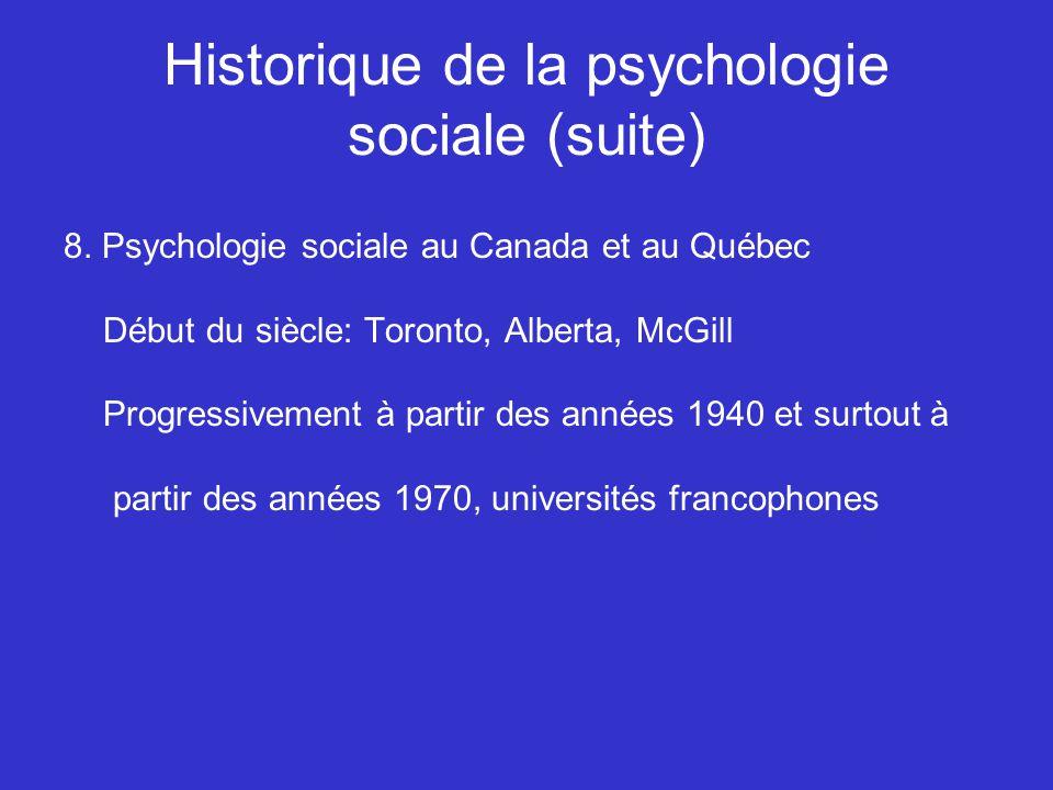 Historique de la psychologie sociale (suite)