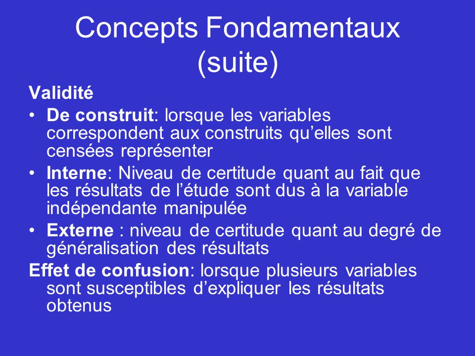 Concepts Fondamentaux (suite)