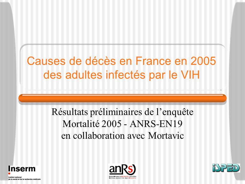 Causes de décès en France en 2005 des adultes infectés par le VIH