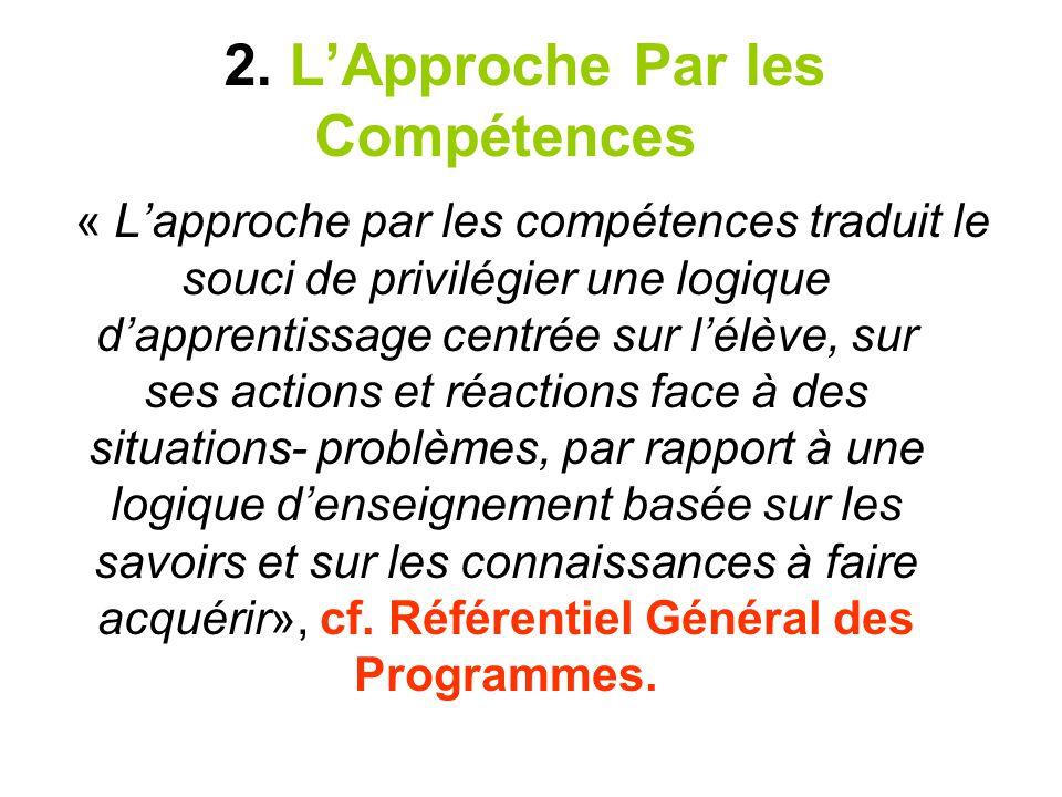2. L'Approche Par les Compétences