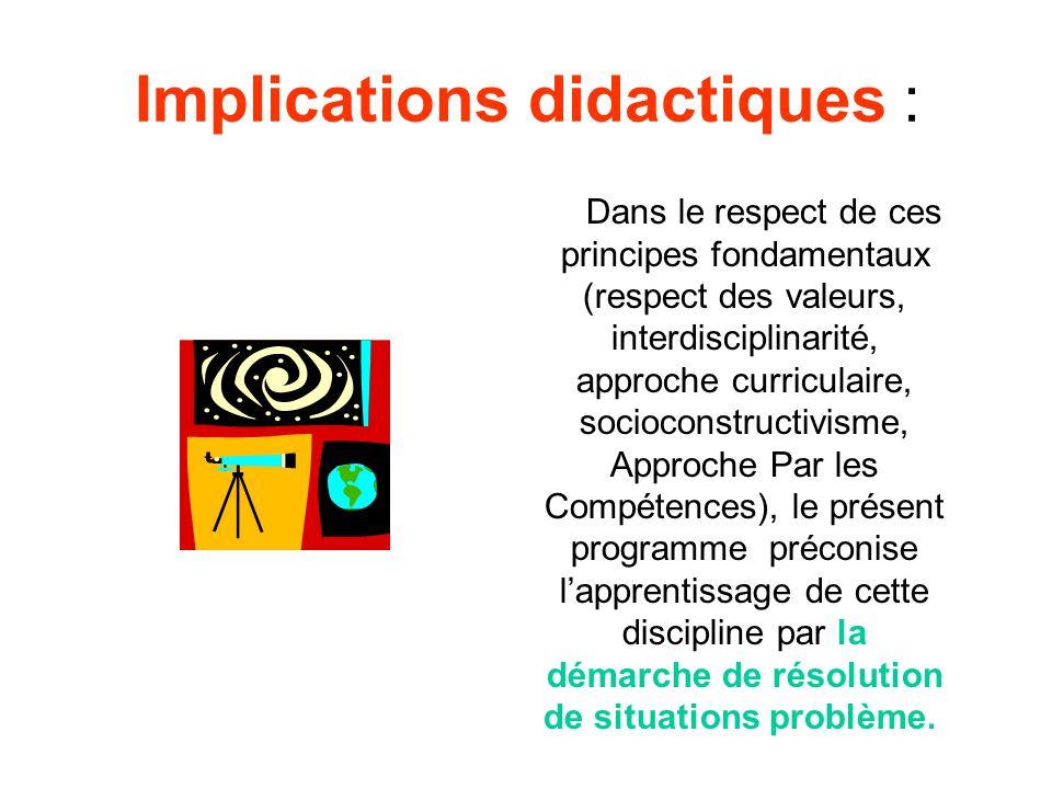 Implications didactiques :