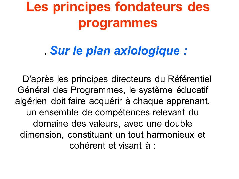 Les principes fondateurs des programmes