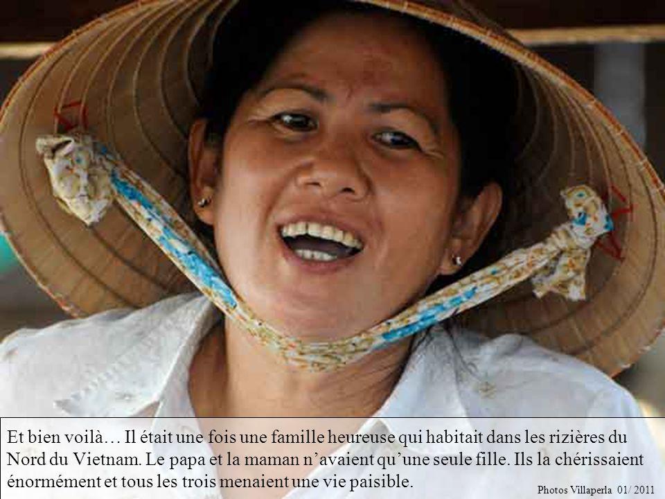 Et bien voilà… Il était une fois une famille heureuse qui habitait dans les rizières du Nord du Vietnam. Le papa et la maman n'avaient qu'une seule fille. Ils la chérissaient énormément et tous les trois menaient une vie paisible.