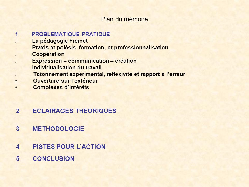 ECLAIRAGES THEORIQUES METHODOLOGIE PISTES POUR L'ACTION CONCLUSION