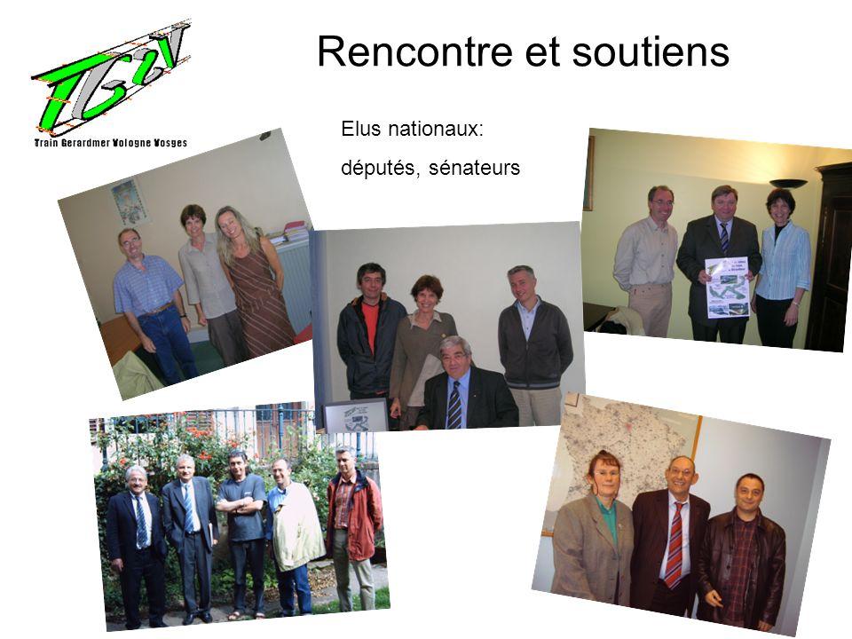 Rencontre et soutiens Elus nationaux: députés, sénateurs