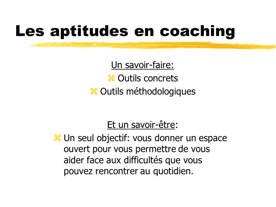 Les aptitudes en coaching