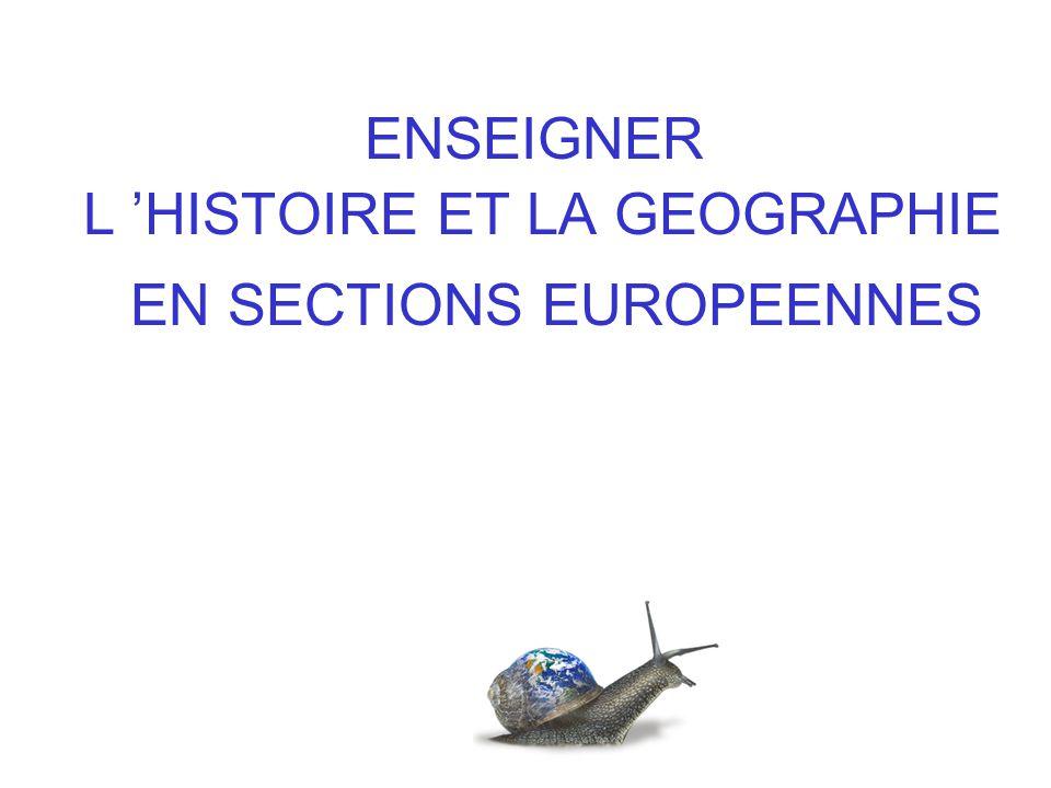 ENSEIGNER L 'HISTOIRE ET LA GEOGRAPHIE
