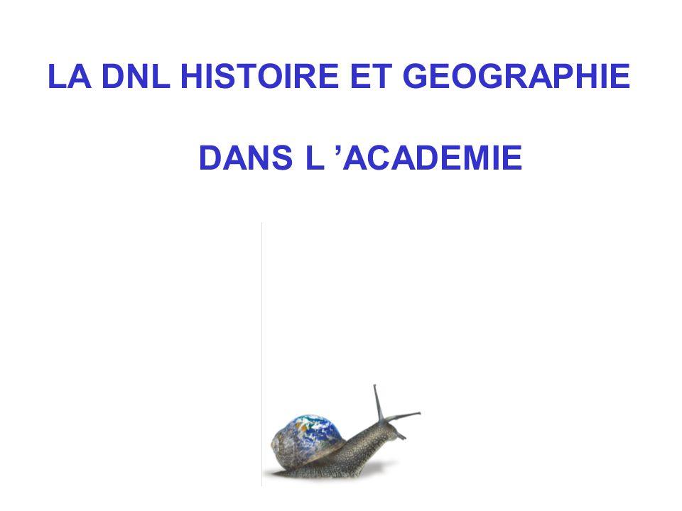 LA DNL HISTOIRE ET GEOGRAPHIE