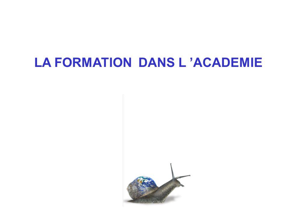 LA FORMATION DANS L 'ACADEMIE