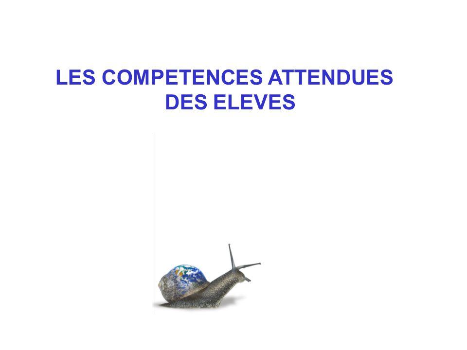 LES COMPETENCES ATTENDUES