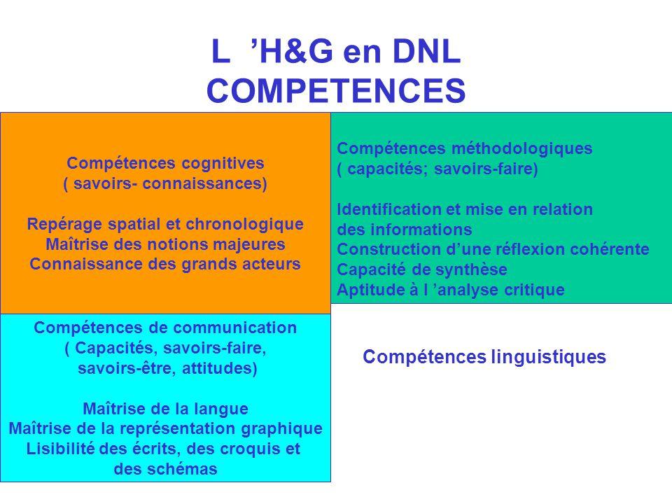 L 'H&G en DNL COMPETENCES