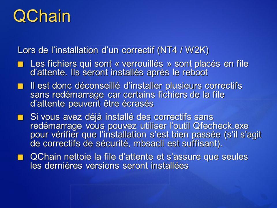 QChain Lors de l'installation d'un correctif (NT4 / W2K)