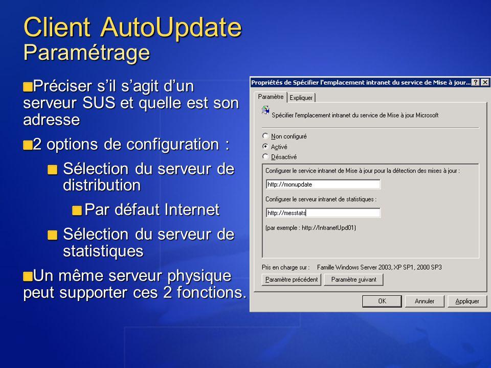 Client AutoUpdate Paramétrage