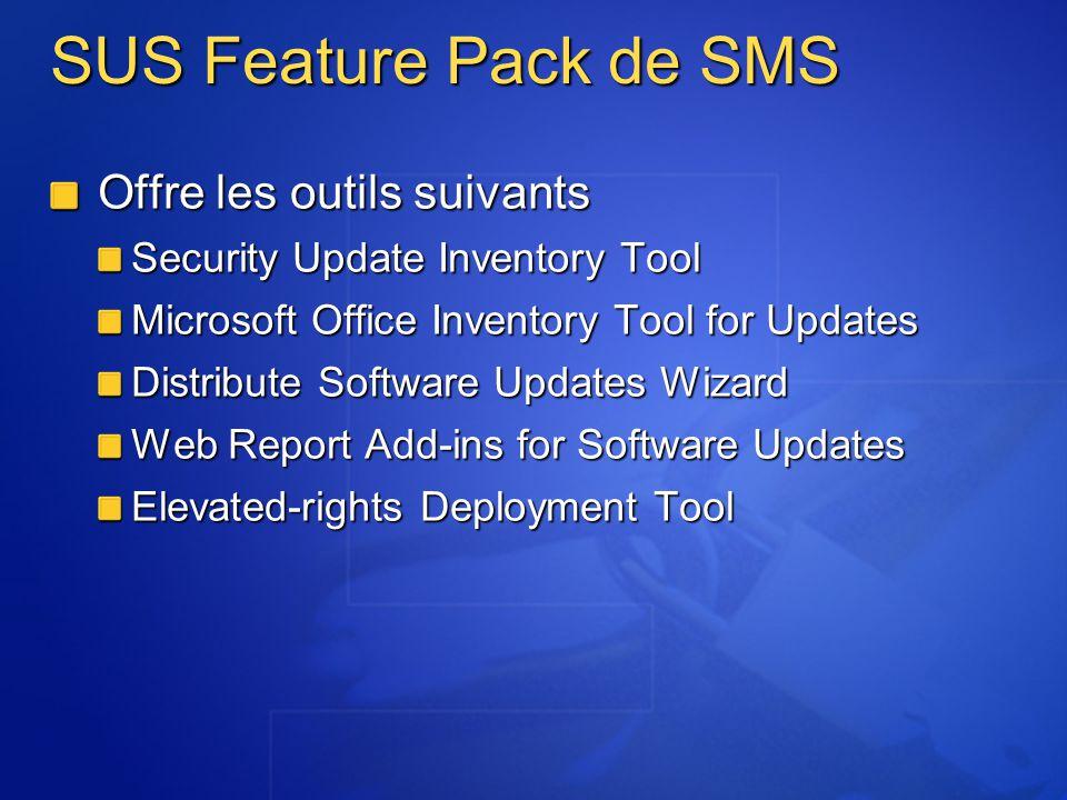 SUS Feature Pack de SMS Offre les outils suivants