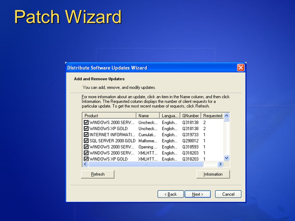 Patch Wizard