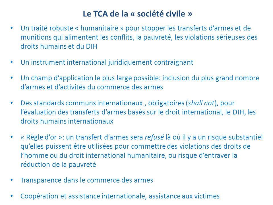 Le TCA de la « société civile »