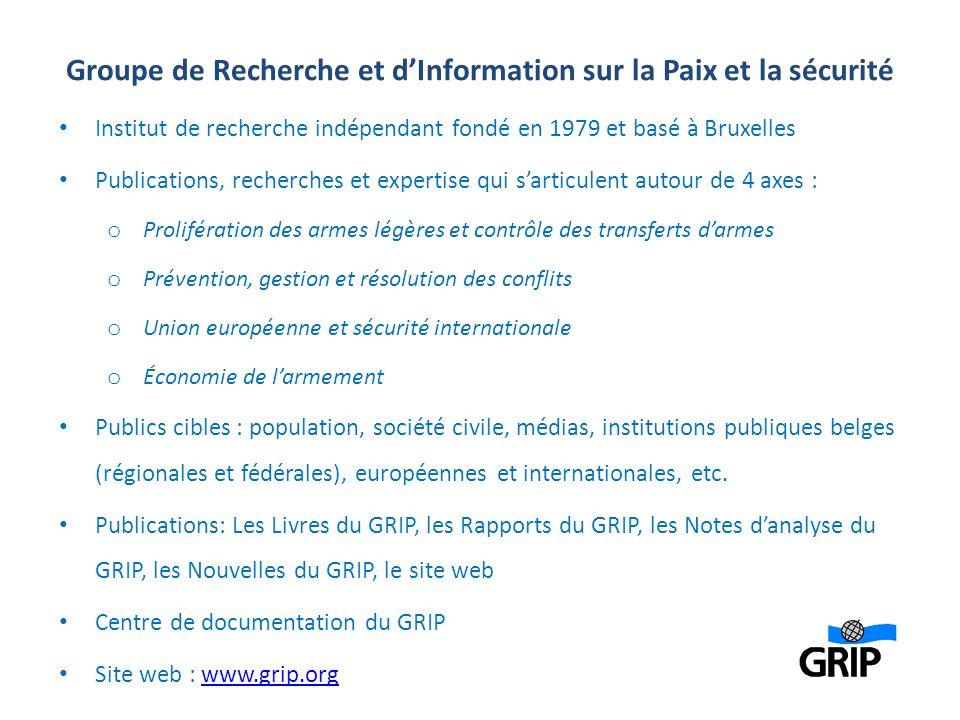 Groupe de Recherche et d'Information sur la Paix et la sécurité