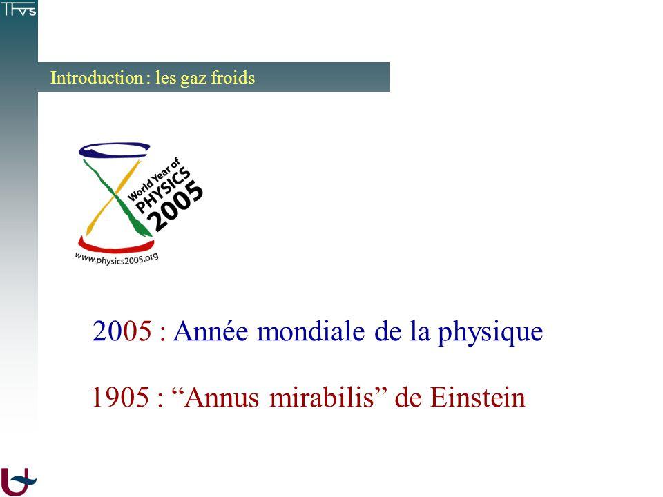 2005 : Année mondiale de la physique