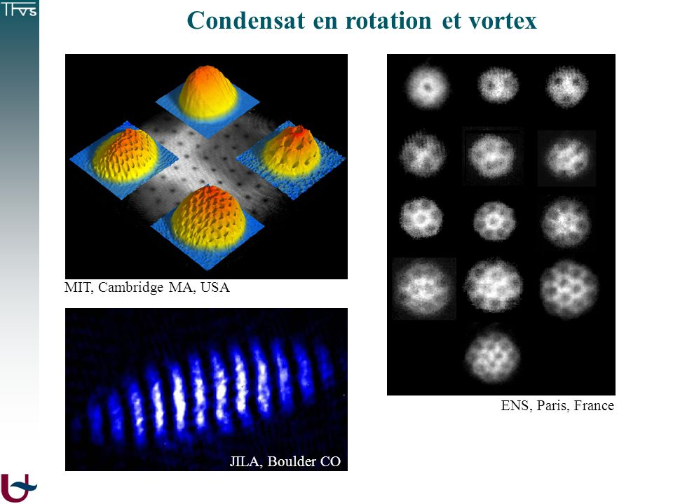 Condensat en rotation et vortex