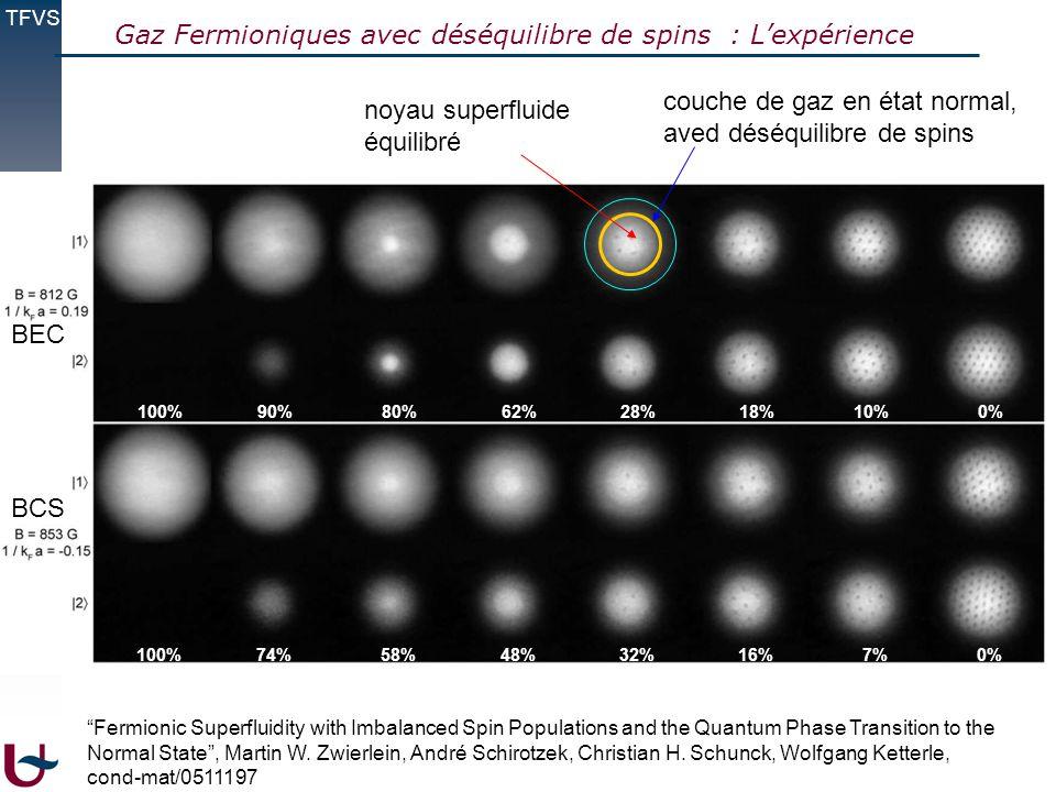 Gaz Fermioniques avec déséquilibre de spins : L'expérience