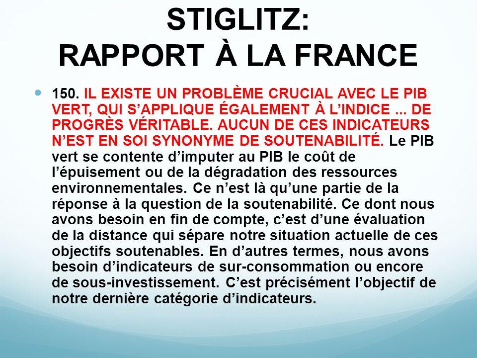 STIGLITZ: RAPPORT À LA FRANCE
