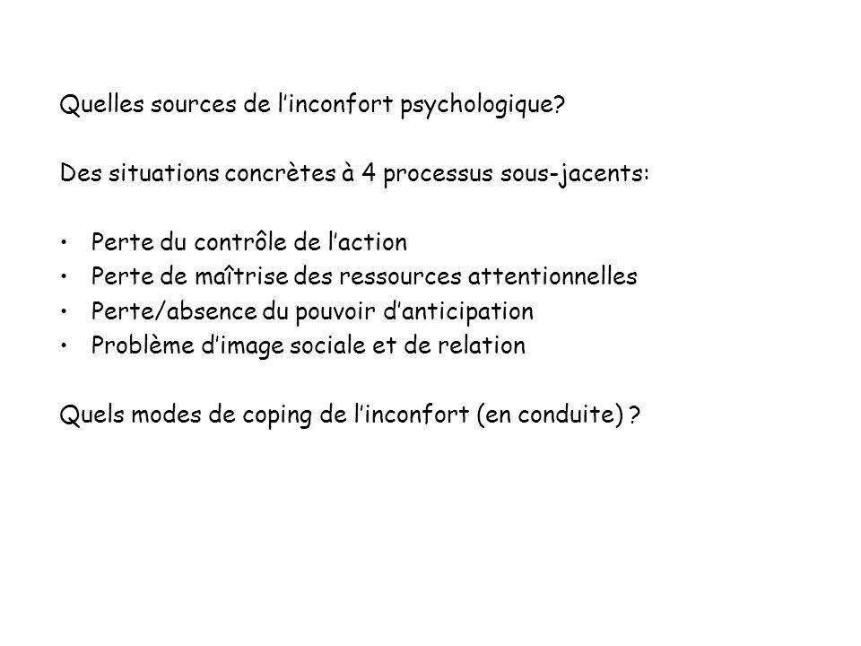 Quelles sources de l'inconfort psychologique