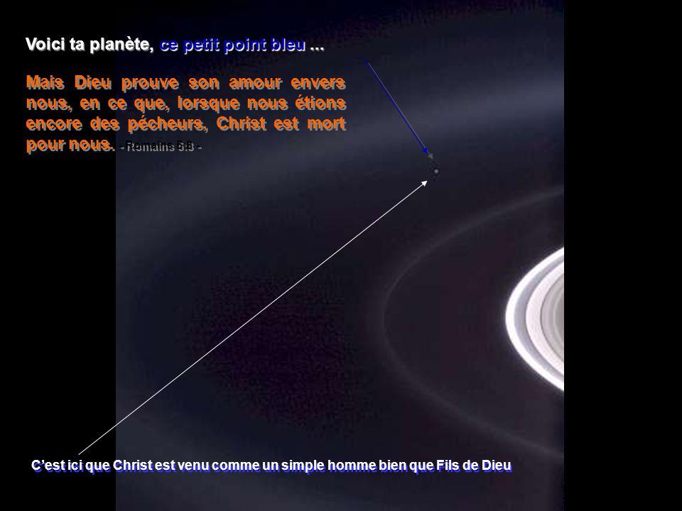 Voici ta planète, ce petit point bleu ...