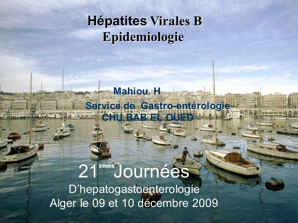 Hépatites Virales B Epidemiologie