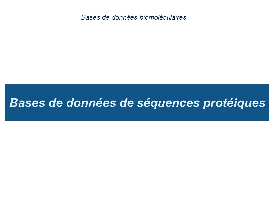 Bases de données de séquences protéiques