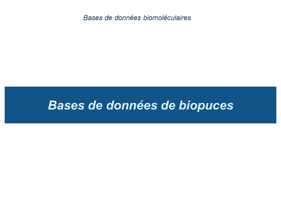 Bases de données de biopuces