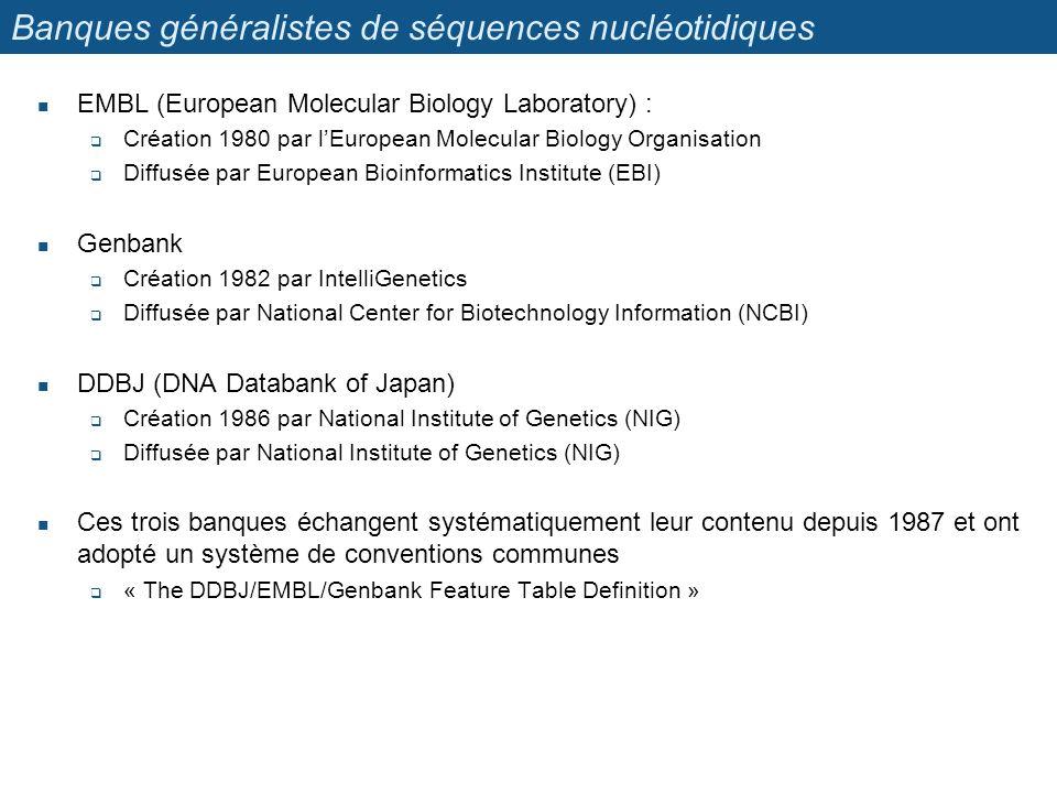 Banques généralistes de séquences nucléotidiques