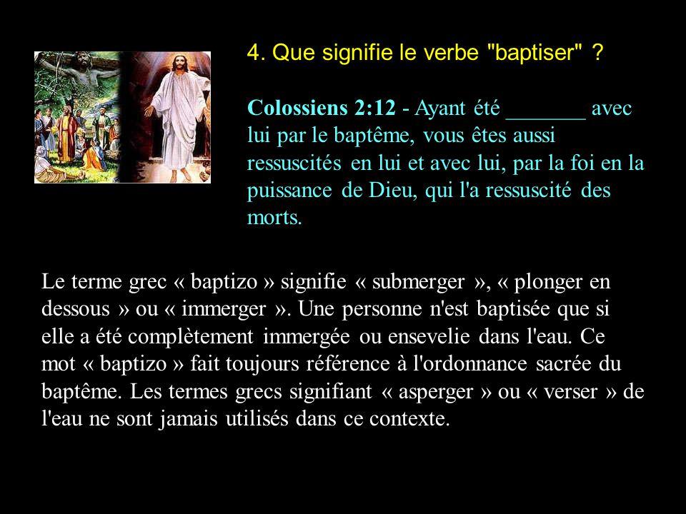 4. Que signifie le verbe baptiser