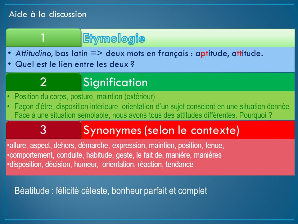 Synonymes (selon le contexte) 3