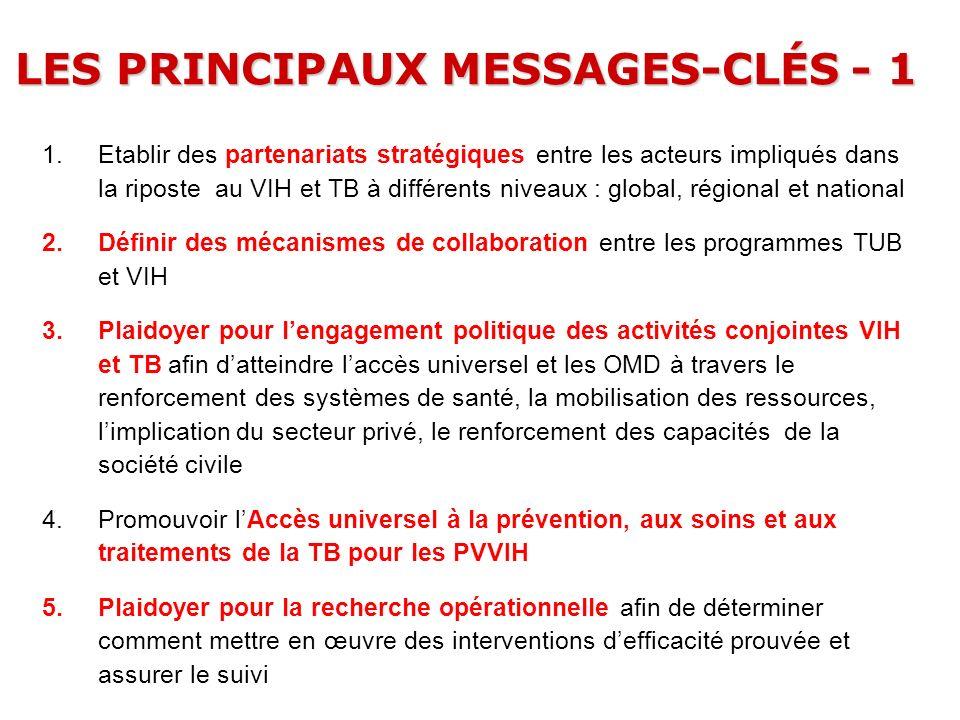 LES PRINCIPAUX MESSAGES-CLÉS - 1