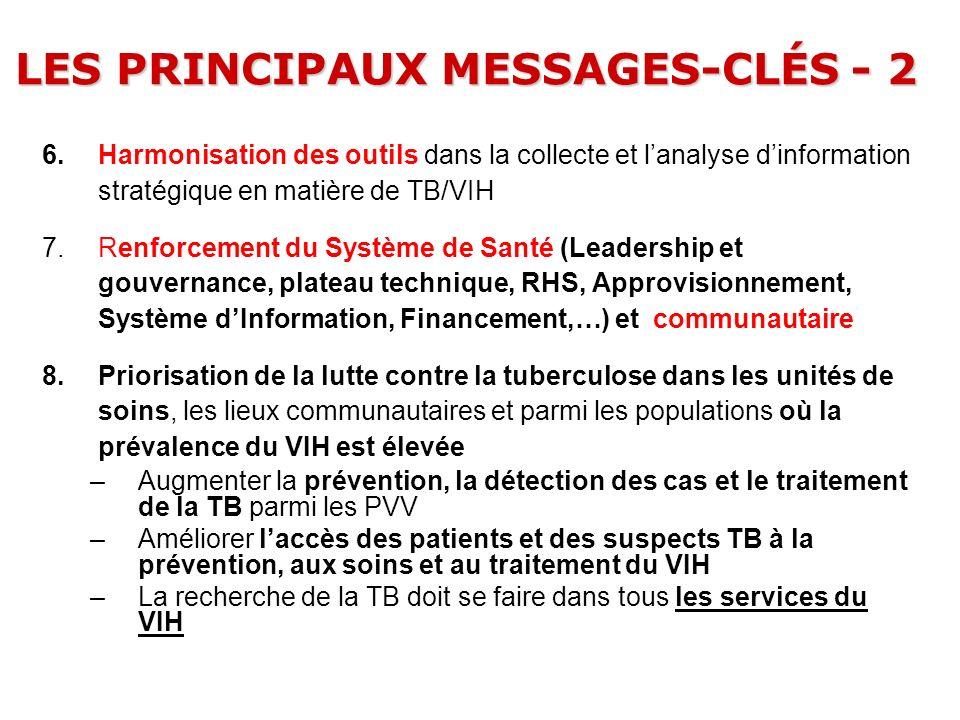 LES PRINCIPAUX MESSAGES-CLÉS - 2