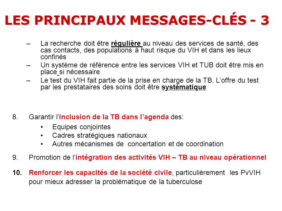 LES PRINCIPAUX MESSAGES-CLÉS - 3
