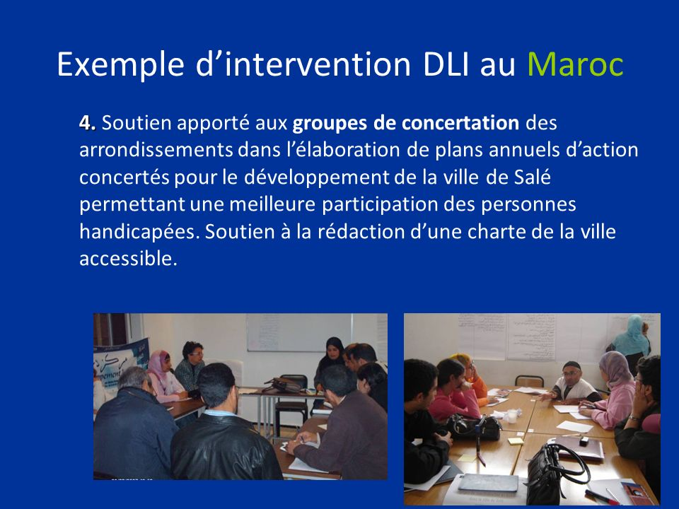 Exemple d'intervention DLI au Maroc