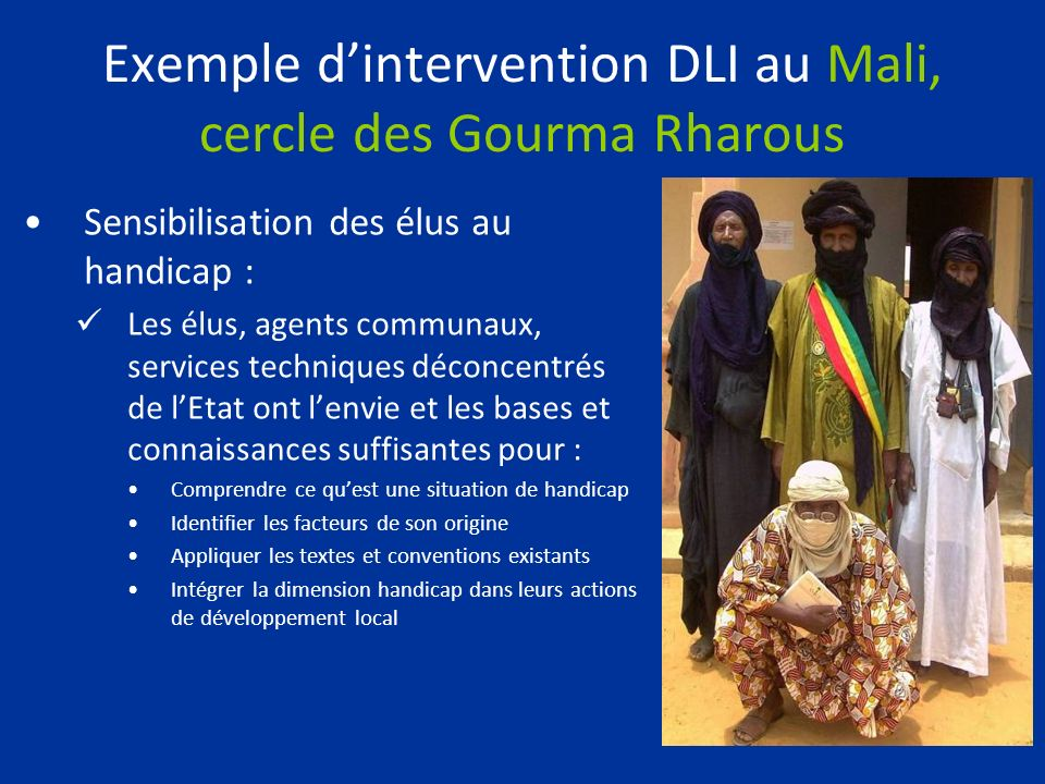 Exemple d'intervention DLI au Mali, cercle des Gourma Rharous