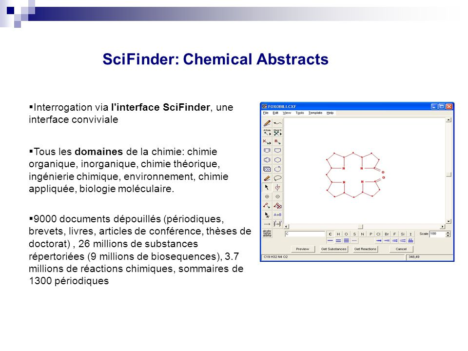 SciFinder: Chemical Abstracts